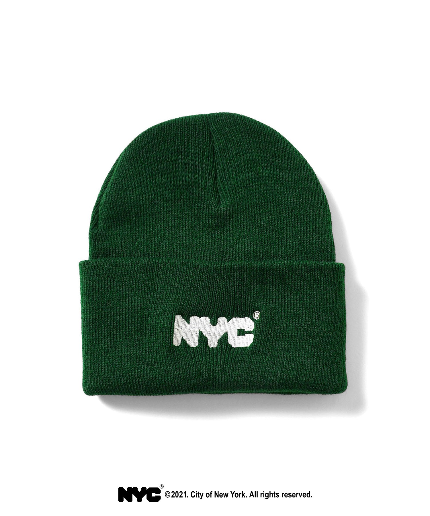 LFYT X DSNY COMMUNITY SERVICES LONG BEANIE LS211404  DARK GREEN