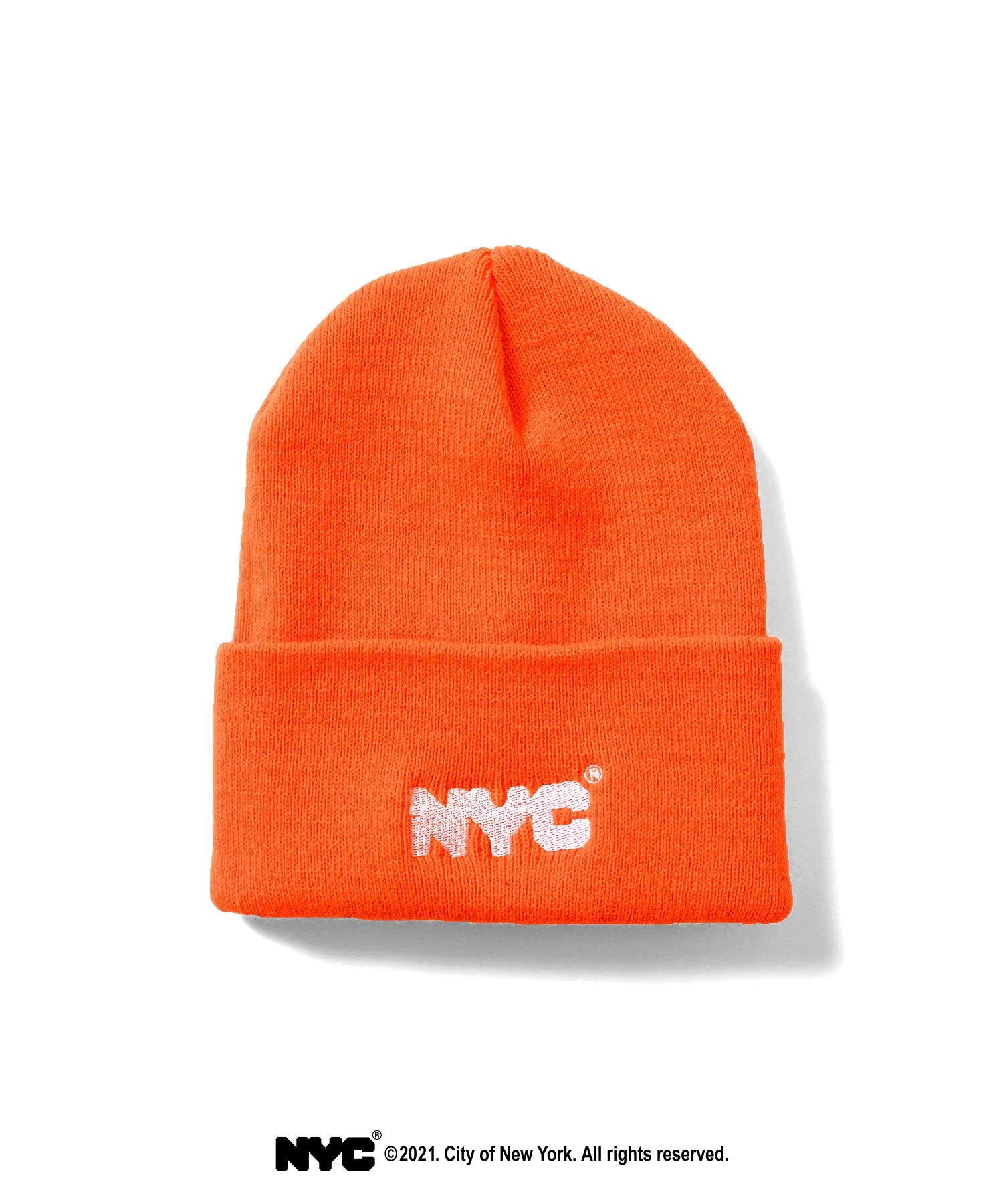 LFYT X DSNY COMMUNITY SERVICES LONG BEANIE LS211404 ORANGE
