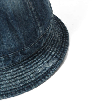WASHED DENIM REVERSIBLE METRO HAT LS211408  BLUE