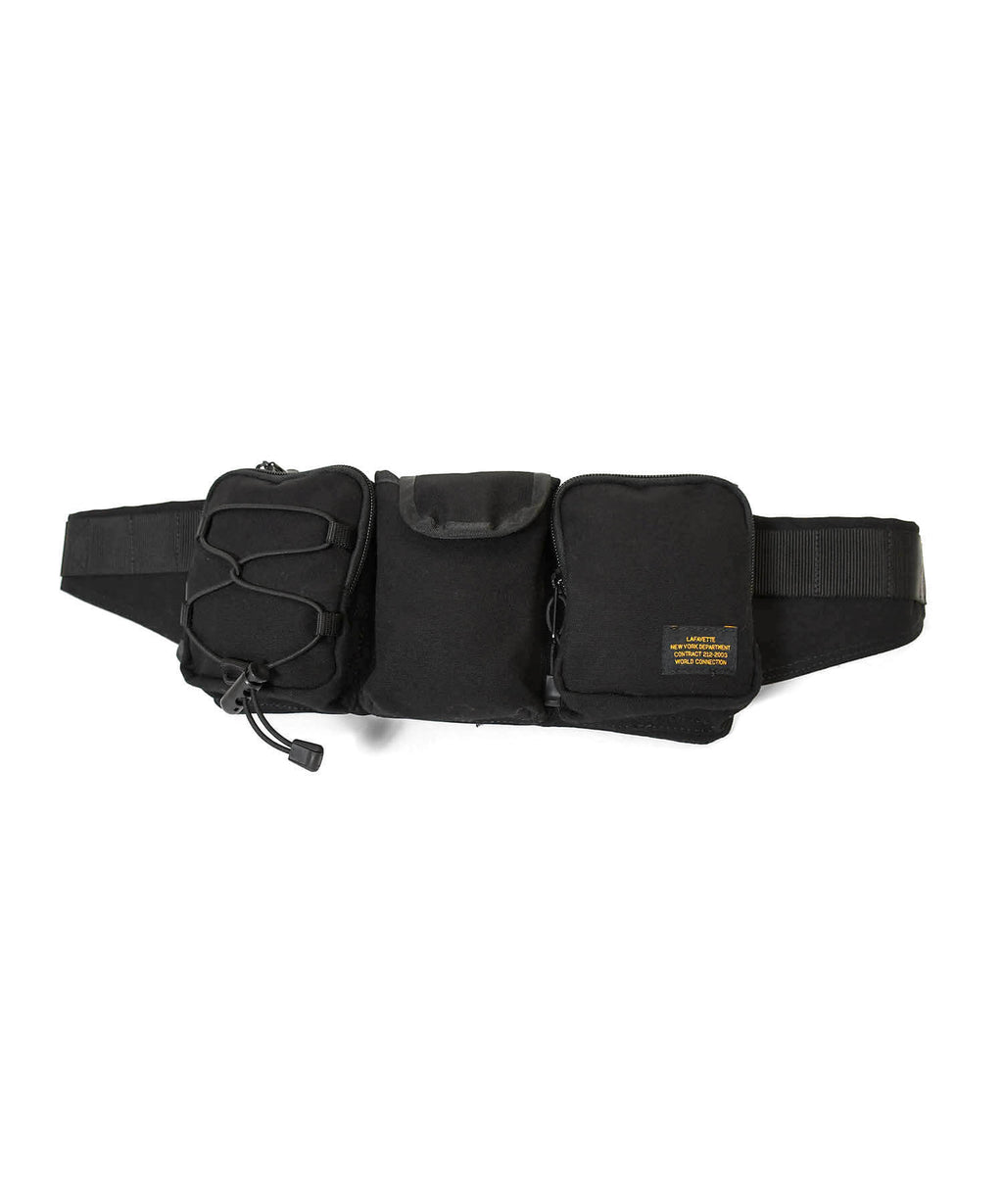 MILITARY WAIST BAG LS211502 BLACK