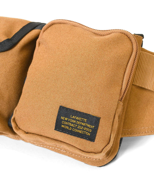 MILITARY WAIST BAG LS211502 BROWN