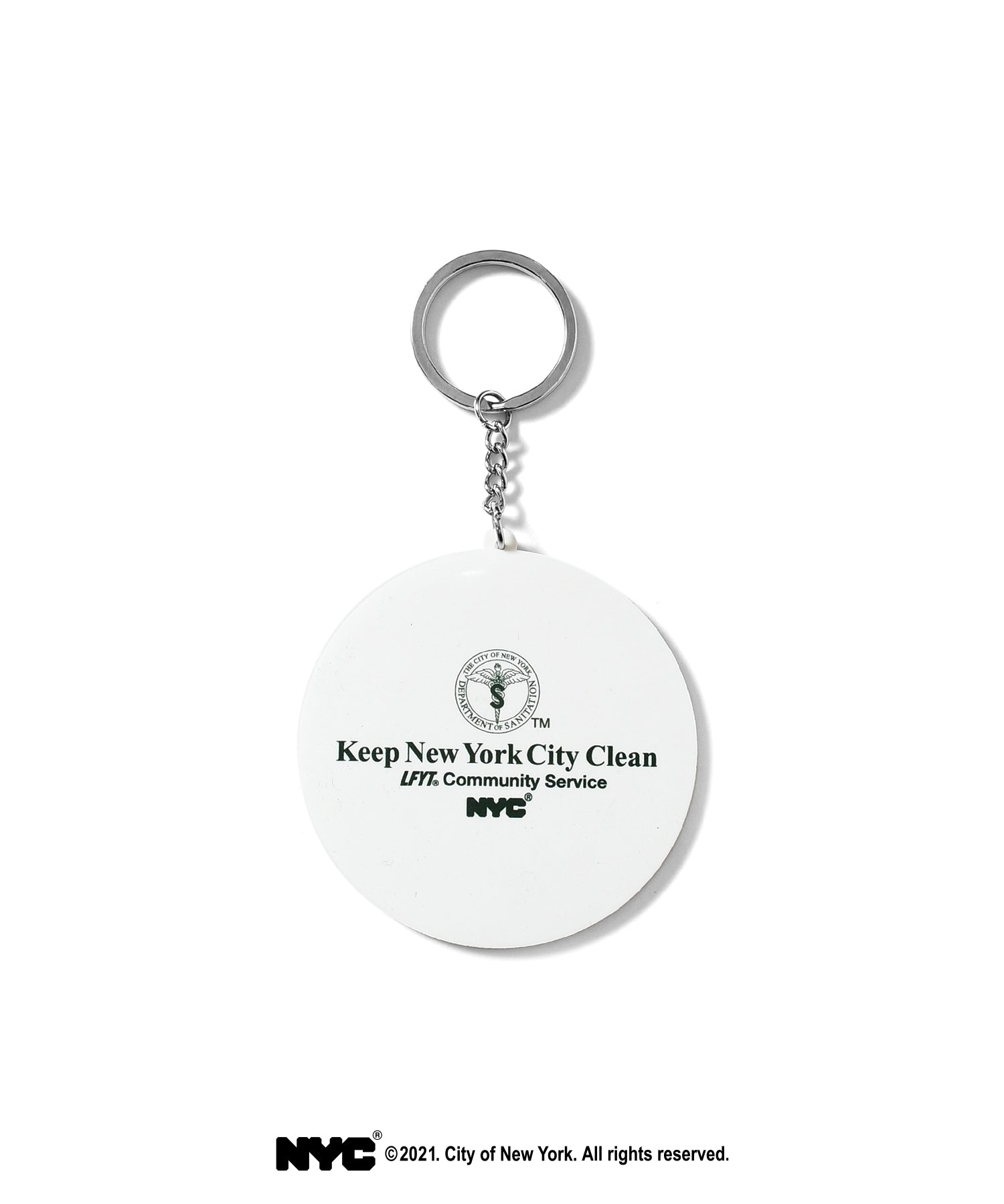 LFYT X DSNY COMMUNITY SERVICES RUBBER KEY CHAIN LS211802