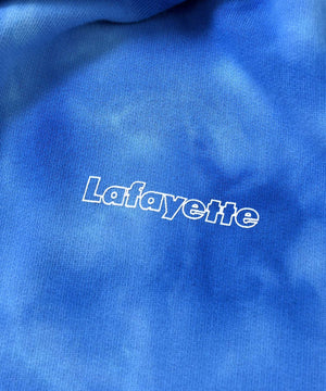 Lafayette OUTLINE LOGO TIE DYED PULLOVER HOODIE LS200503 BLUE
