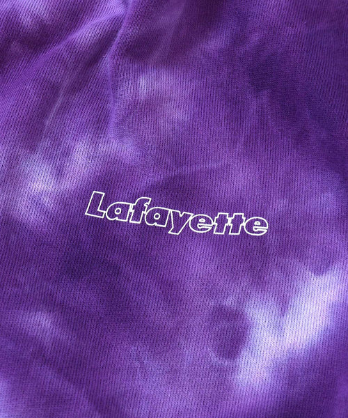 Lafayette OUTLINE LOGO TIE DYED PULLOVER HOODIE LS200503 PURPLE