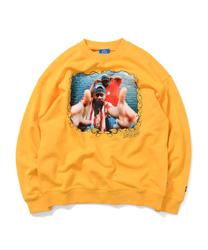 LFYT X 1807 X CASH X T.ERIC RAEKWON AND GFK CREWNECK SWEATSHIRT YELLOW LE200706