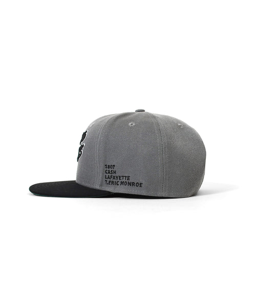 LFYT X 1807 X CASH X T.ERIC BACK TO 90s 2TONE SNAPBACK CAP GRAY LE201408