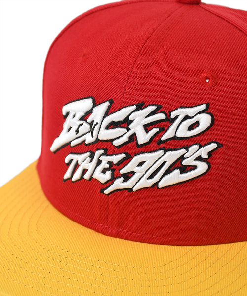 LFYT X 1807 X CASH X T.ERIC PAISLEY BACK TO 90's BACK TO 90'S 2TONE SNAPBACK CAP RED LE201408