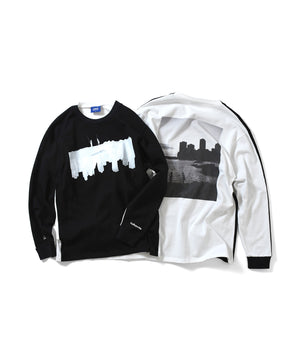 LFYT x dee - PHOTO 2TONE L/S TEE LA200122 WHITE/BLACK