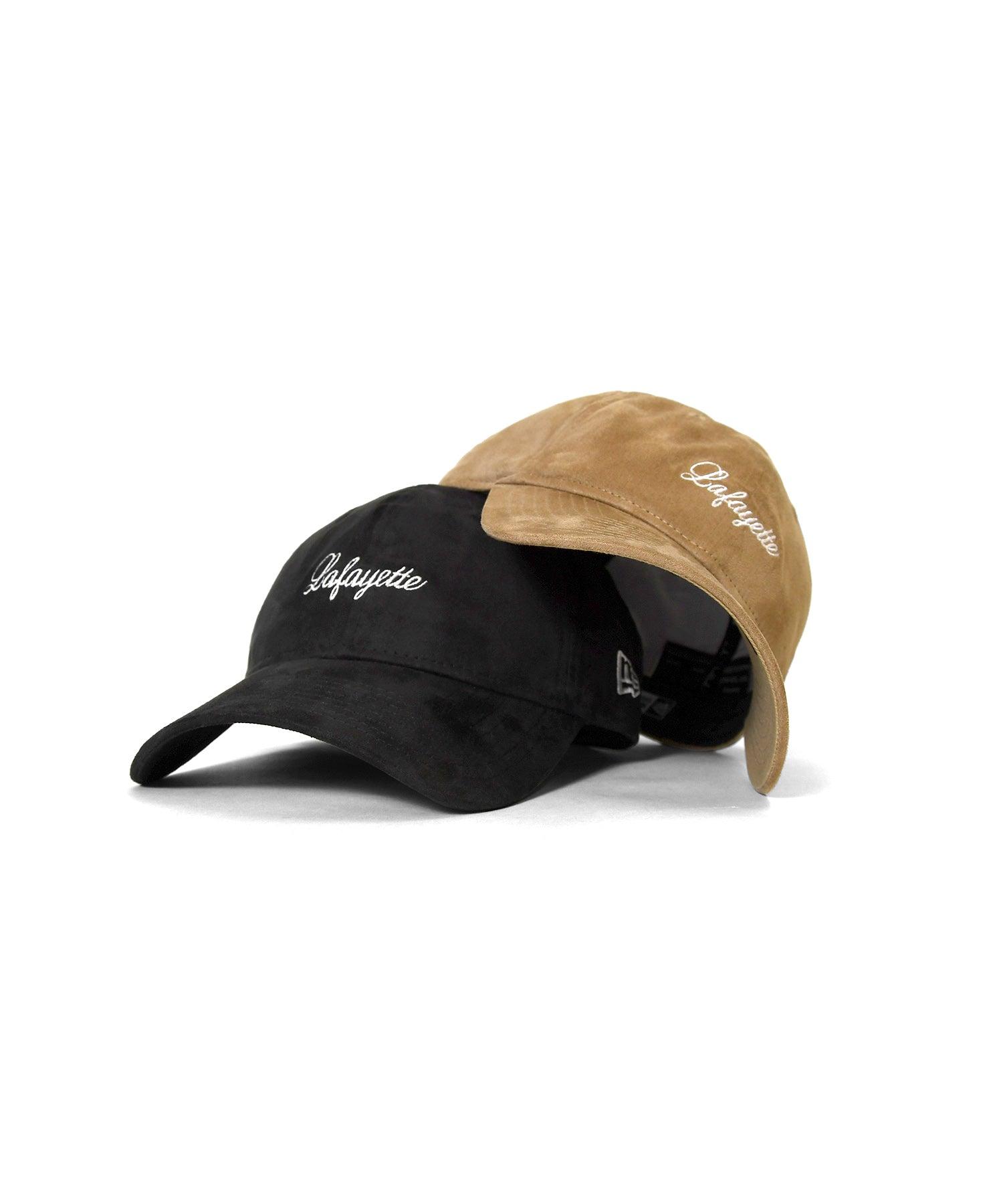 LFYT x NEW ERA SCRIPT LOGO SYNTHTIC SUEDE 9THIRTY CAP BLACK LA201407