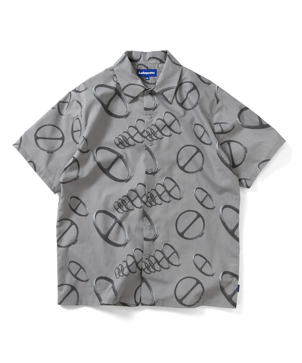 Lafayette CITYRACKS ALLOVER PATTERN S/S SHIRT LS200208 GRAY
