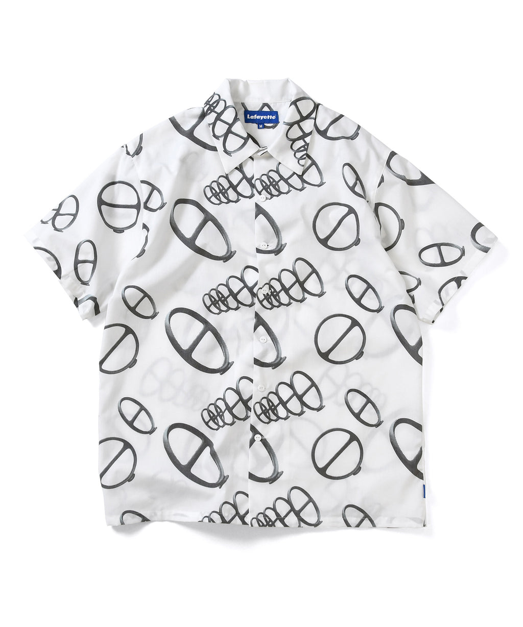 Lafayette CITYRACKS ALLOVER PATTERN S/S SHIRT LS200208 WHITE