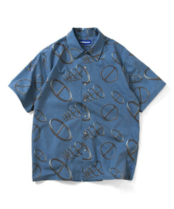 Lafayette CITYRACKS ALLOVER PATTERN S/S SHIRT LS200208 NAVY