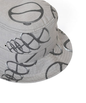 Lafayette CITYRACKS ALLOVER PATTERN BACKET HAT LS201413 GRAY