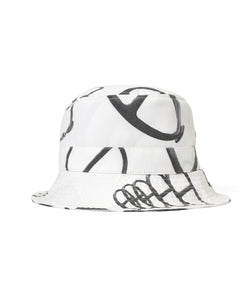 Lafayette CITYRACKS ALLOVER PATTERN BACKET HAT LS201413 WHITE