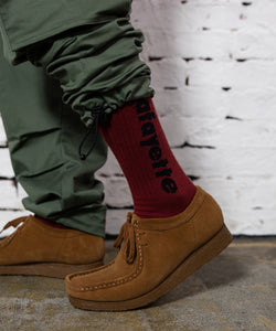 LOGO SOCKS BURGUNDY LA202101
