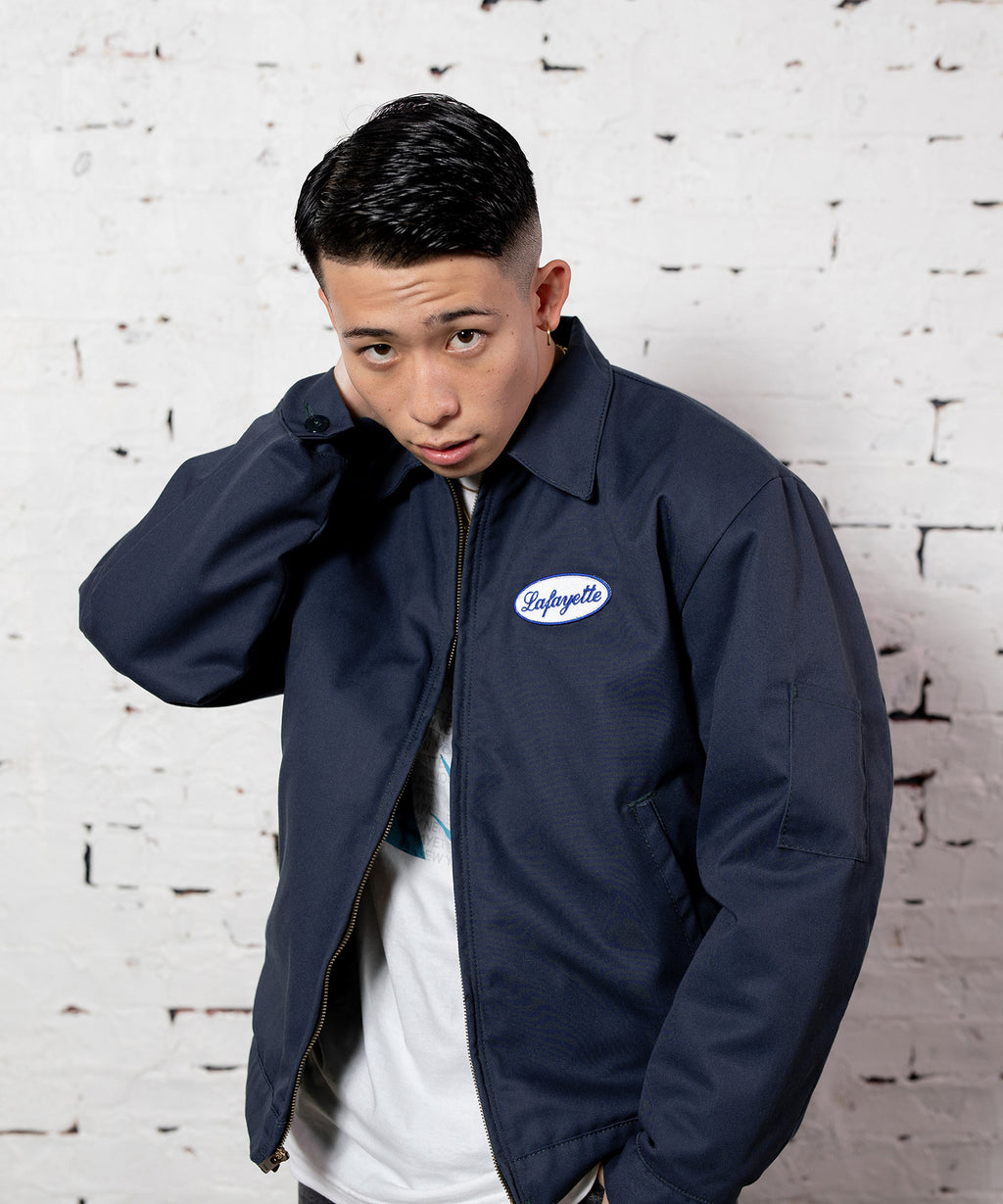 CUSTOM SERVICE WORK JACKET NAVY LA201004