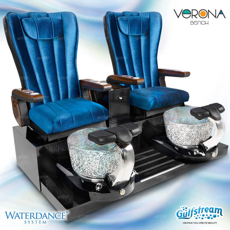 Gulfstream - Verona Double Bench Pedicure Spa