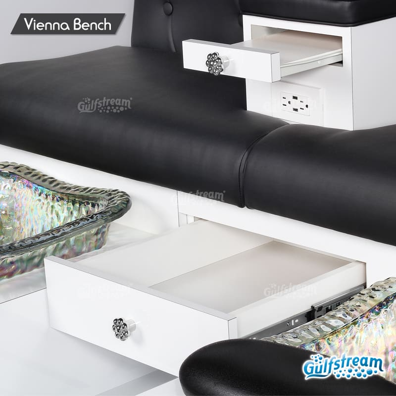 Gulfstream - Vienna Double Bench Pedicure Spa