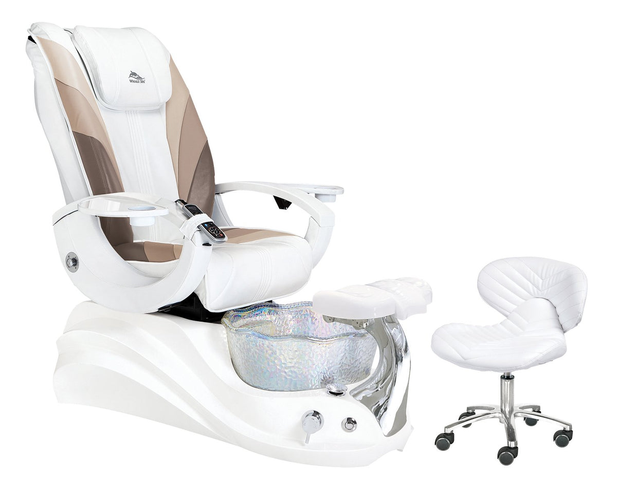 Whale Spa - Crane White Edition Pedicure Spa - Superb Nail Supply