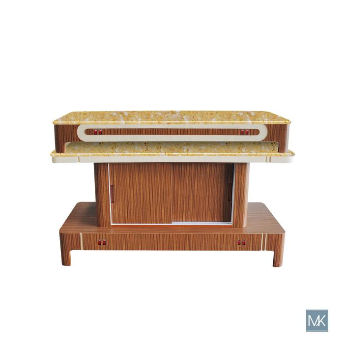 Second image of Mayakoba Verona II Nail Dryer Table by Superb Nail Supply