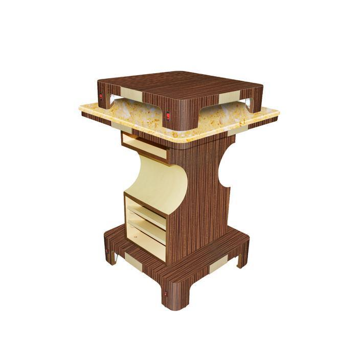 Main image of Mayakoba Verona II Nail Dryer Table (Square) by Superb Nail Supply