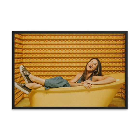 Customizable Premium Luster 24x36 Photo Paper Framed Poster (in)