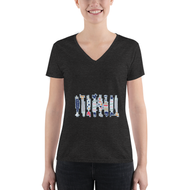 Customizable Women's Slim Fit V-Neck Tee | Bella + Canvas 8435