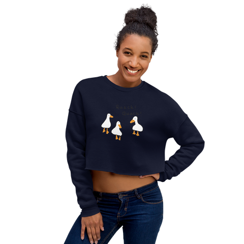 Customizable Women's Cropped Sweatshirt | Bella + Canvas 7503