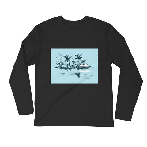 Customizable Men's Long Sleeve Fitted Crew Shirt | Next Level