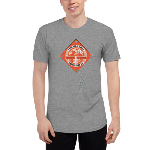 Customizable Unisex Tri-Blend Track Short Sleeve Soft T-Shirt | American Apparel