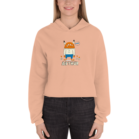 Customizable Women's Cropped Hoodie | Bella + Canvas 7502