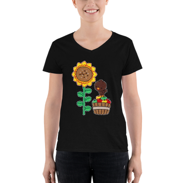 Customizable Women's Casual V-Neck Shirt | Anvil 88VL