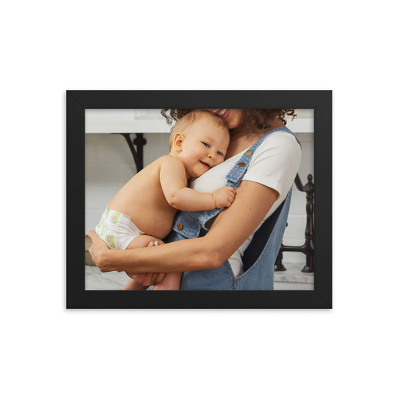 Customizable Premium Luster 8x10 Photo Paper Framed Poster (in)