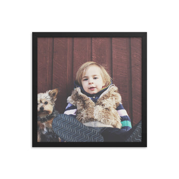 Customizable Premium Luster 16x16 Photo Paper Framed Poster (In)