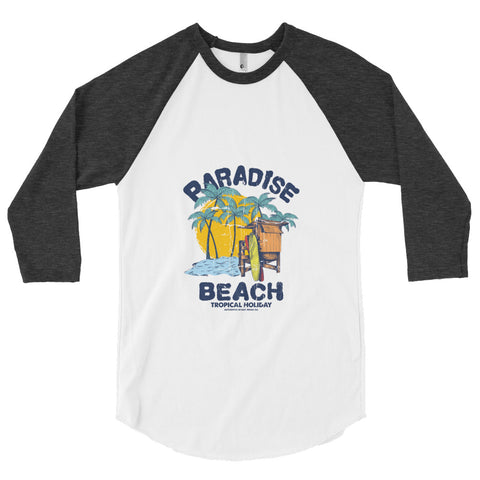 Customizable Men's 3/4 Sleeve Raglan Shirt | American Apparel