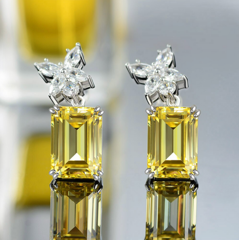 Prosperity Emerald-Cut Earrings