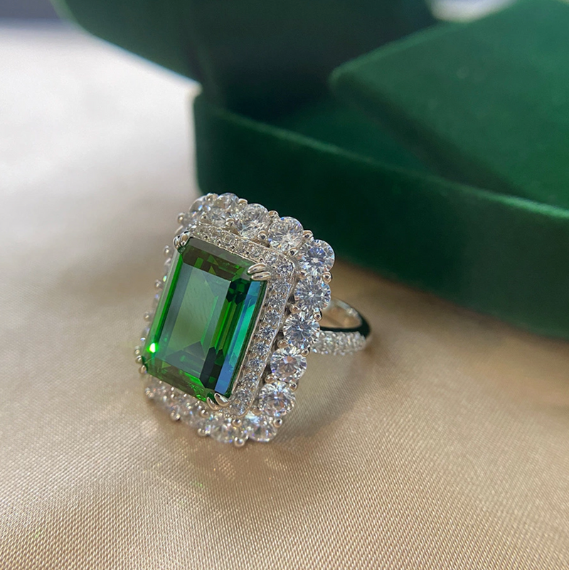 Gratitude Emerald-Cut Halo Ring