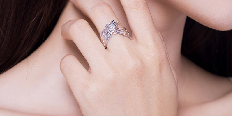 Protector Angel's Wing Ring