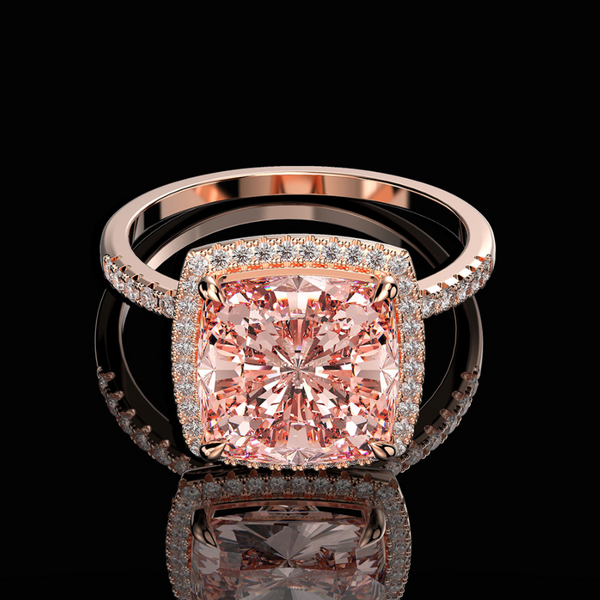 Empowerment Rose Gold Cushion-Cut Ring