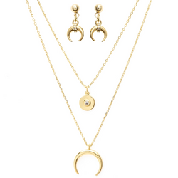 Gold Moon Jewelry Set