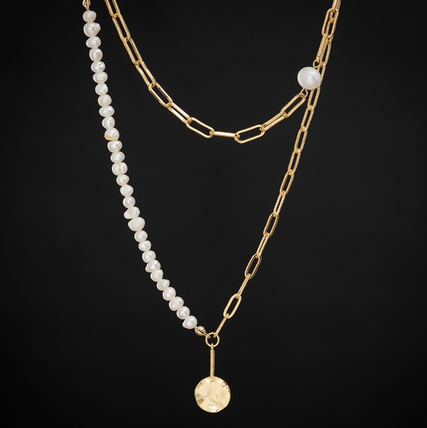 Modern Pearl Chain Necklace