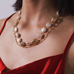Pearl Shell Layered Necklace