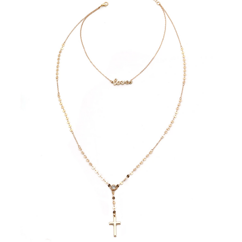 Cross Love Necklace