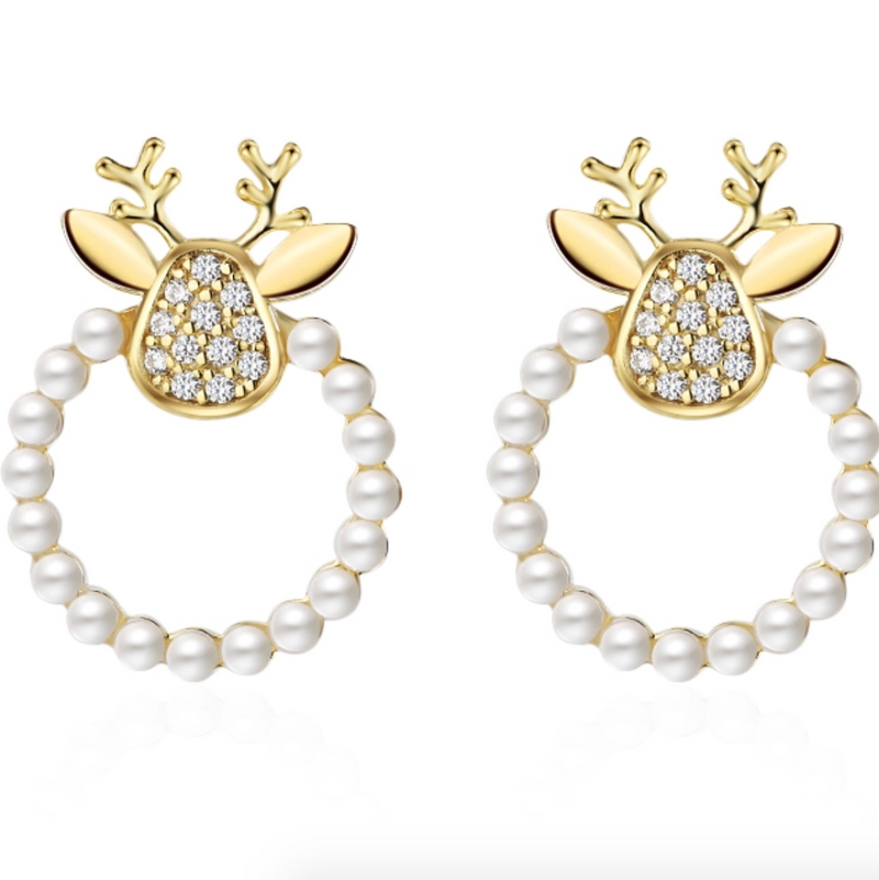 Deer Pearl Earrings