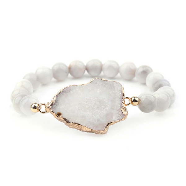 Faith III Pearl Crystal Bracelet
