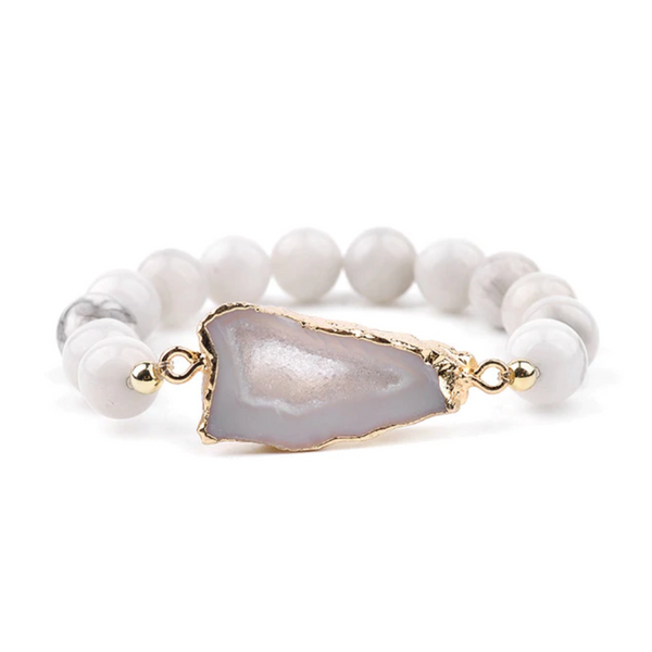 Faith II Pearl Crystal Bracelet