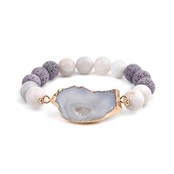 Faith I Pearl Crystal Bracelet