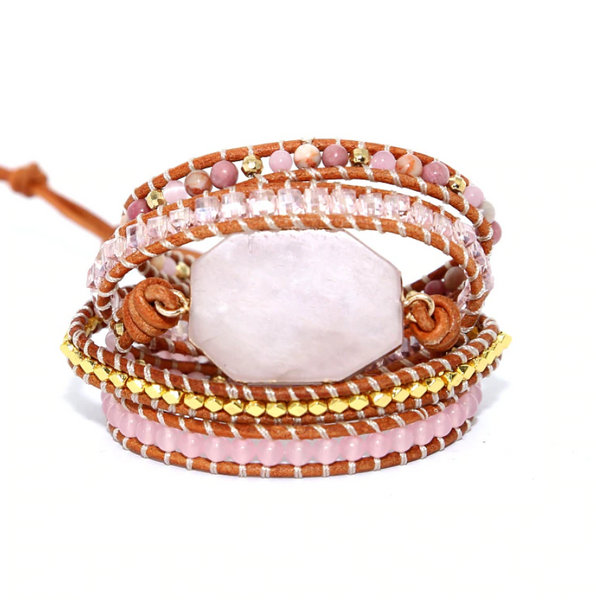 Love Crystal Leather Bracelet