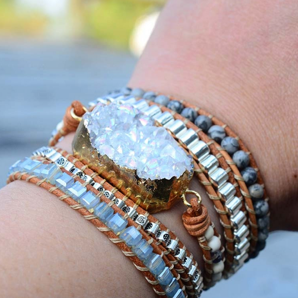 Clarity Crystal Leather Bracelet