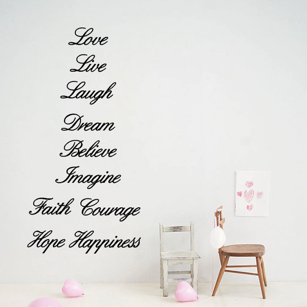 Inspirational Words Wall Sticker